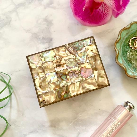 VTG Abalone Shell Jewelry Box